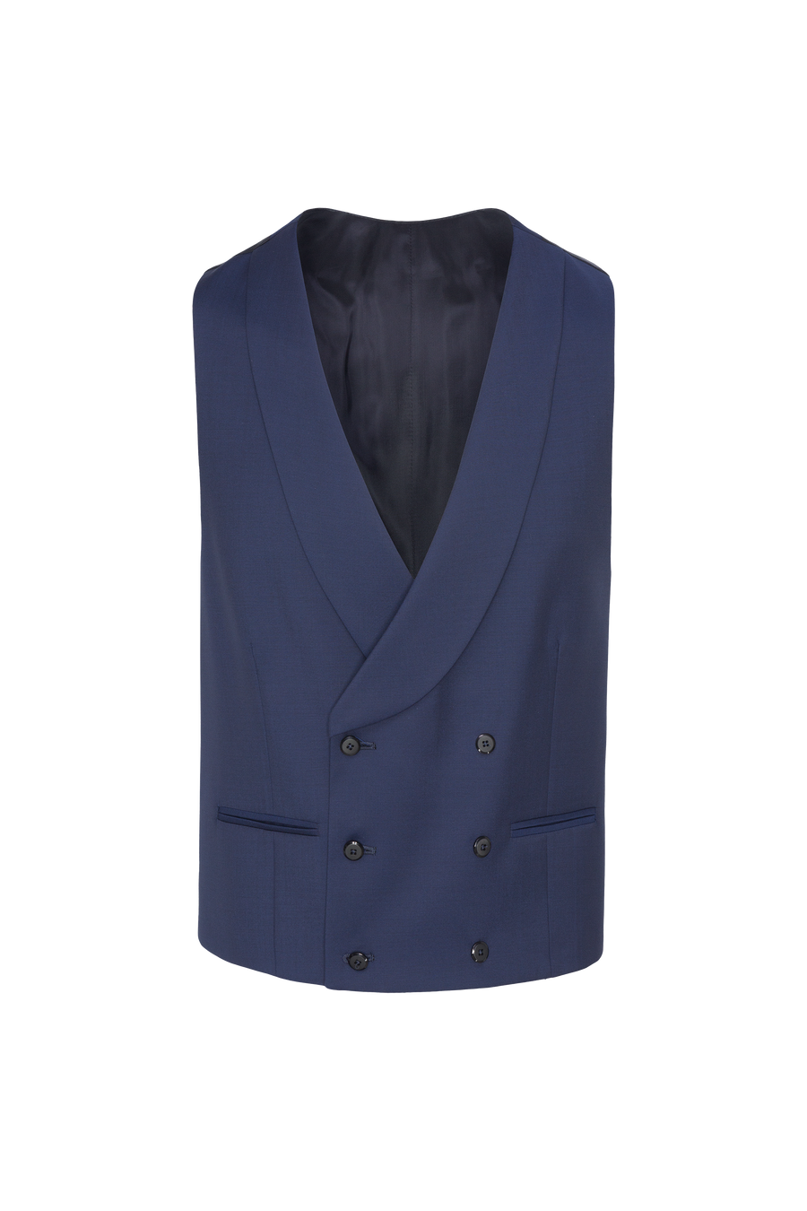 Ink Blue Three-Piece Morning Coat 3% Wool Vitale Barberis