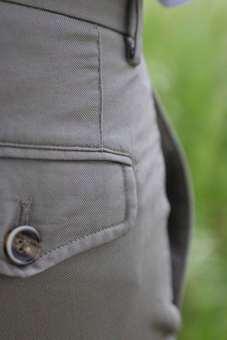 Taupe Cotton-Linen Cargo Canvas Trousers