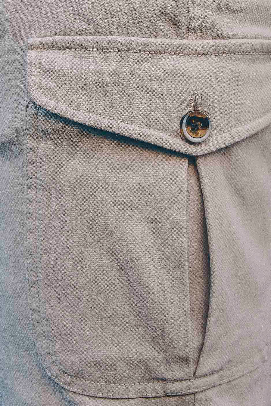 Cargo Canvas Ivory Trousers
