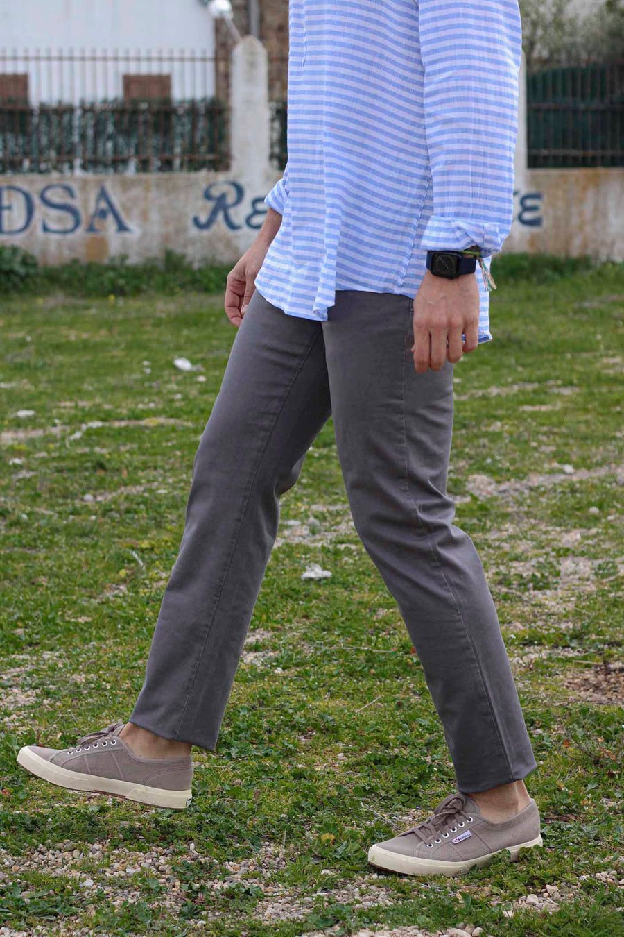 Iron Gray Five Pockets Trousers