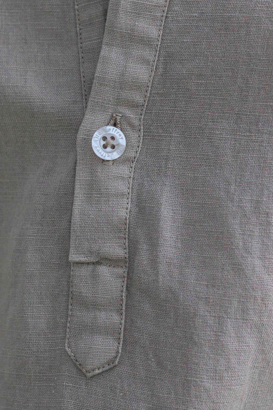 Ivory Sand Linen Shirt Pocket