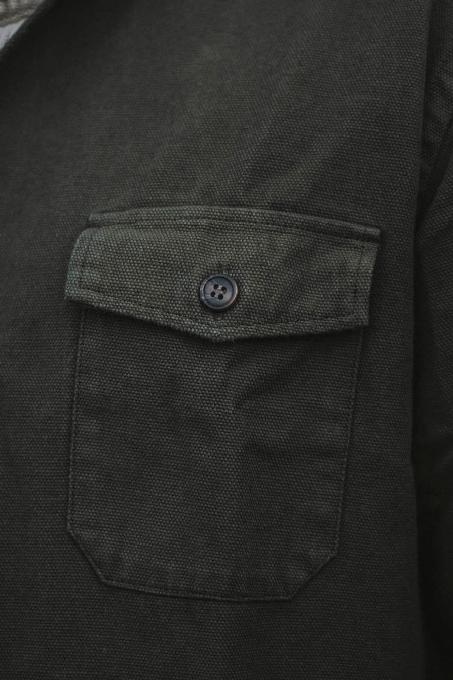 Martial Green Canvas Military Overshirt 310 gr.