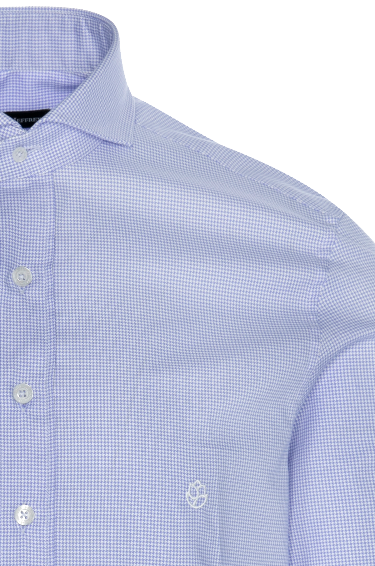 Camisa Oxford Pata de Gallo Azul