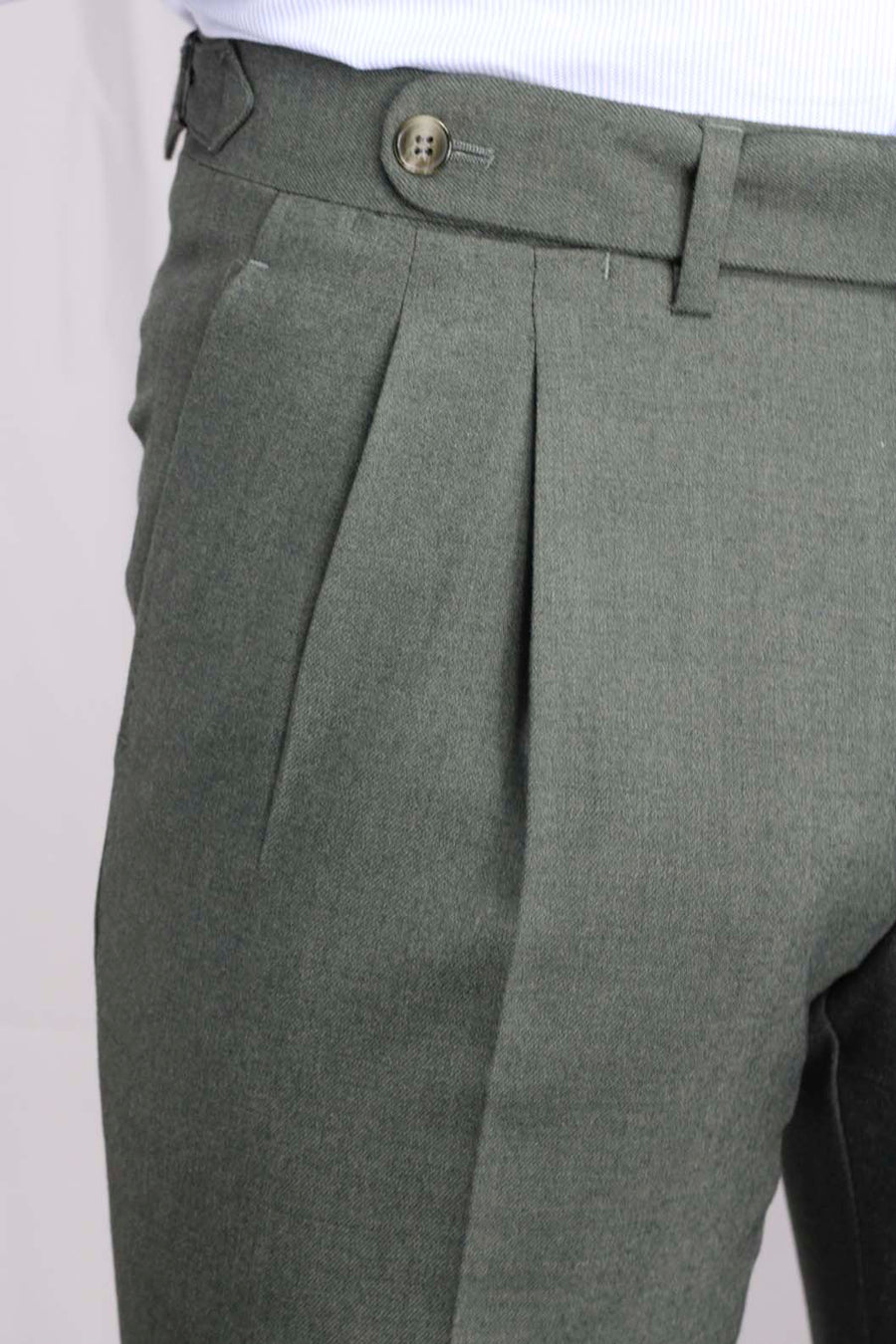 Green Moss Double Gripper Dress Pants