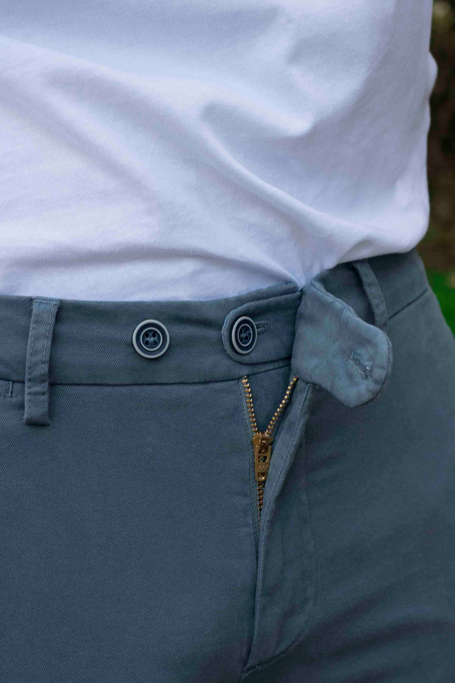 Lead Blue Chino Trousers