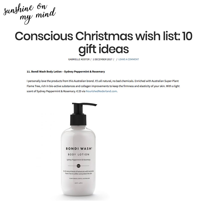 Sunshine On My Mind - Conscious Christmas wish list: gift ideas