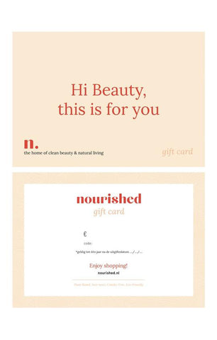 Nourished, gift card, kerst, duurzaam cadeautje, Christmas, gifts, gift ideas, christmas gifts