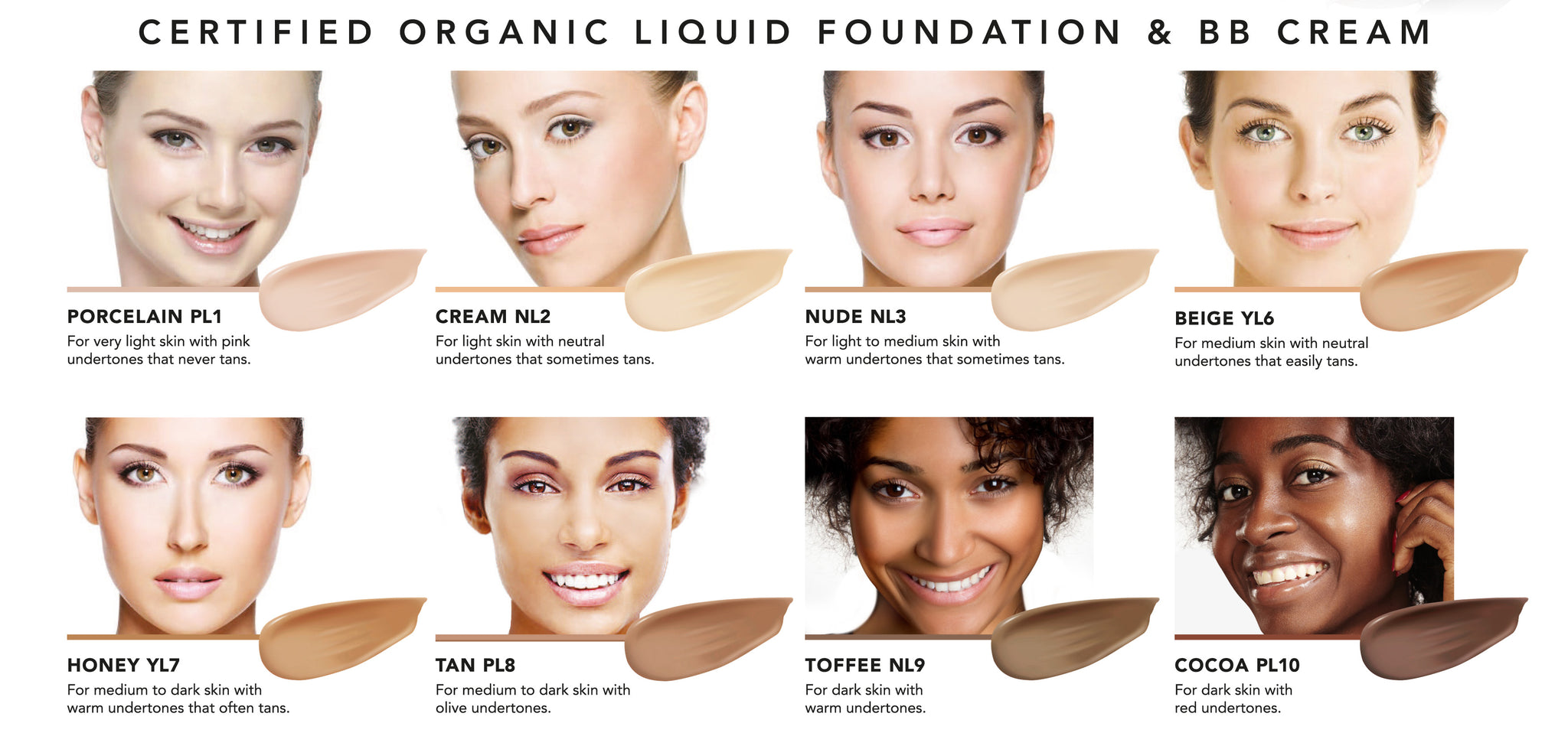 INIKA Organic Shade Definer - BB CREAM - Certified Organic Liquid foundation with hyaluronic acid