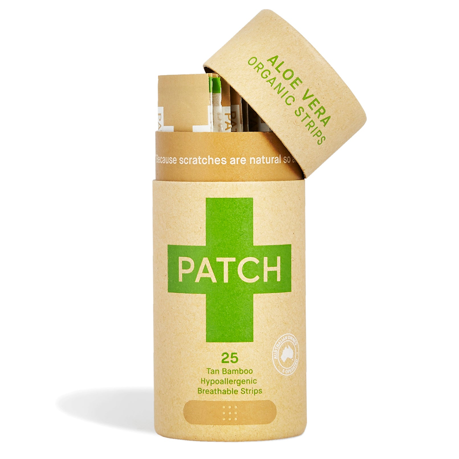 PATCH Eco-Friendly Organic Bamboo Bandage Strips | Natural Wound Care | Bamboo pleisters | Recyclebare pleisters | Natuurlijke wondverzorging | PATCH natuurlijke, bamboe pleisters, Aloe Vera Bamboe pleisters, PATCH Aloe Vera Adhesive Bandates.