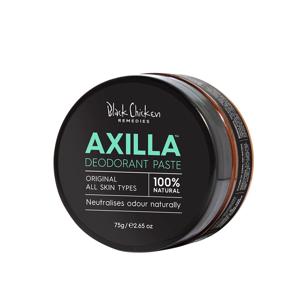 Axilla Natural Deodorant Paste Original| Black Chicken Deodorant | Natuurlijke deodorant | Zonder Aluminium | Black Chicken Deodorant Paste | Black Chicken | Natuurlijke deodorant | Vegan deodorant | Vegan Deodorant creme | Black Chicken Sensitive | Cruelty-free deodorant | Natural & Clean Deodorant | Black Chicken Skincare | Spice Deodorant | Nourished Nederland | Nourish