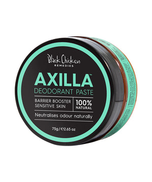 Axilla Natural Deodorant Paste Barrier Booster| Black Chicken Deodorant | Natuurlijke deodorant | Zonder Aluminium | Black Chicken Deodorant Paste | Black Chicken | Natuurlijke deodorant | Vegan deodorant | Vegan Deodorant creme | Black Chicken Sensitive | Cruelty-free deodorant | Natural & Clean Deodorant | Black Chicken Skincare | Spice Deodorant | Nourished