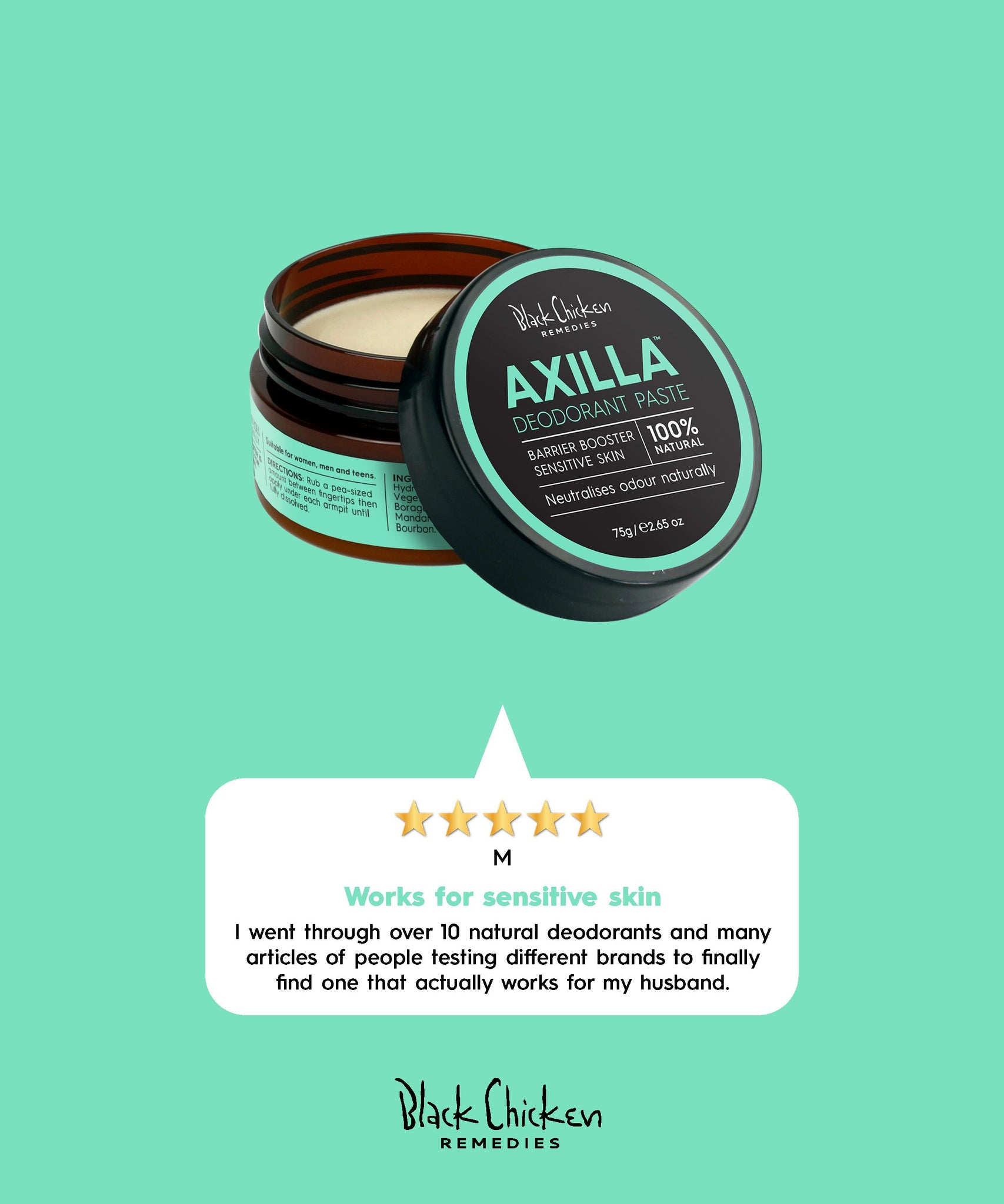 Axilla Natural Deodorant - Barrier Booster