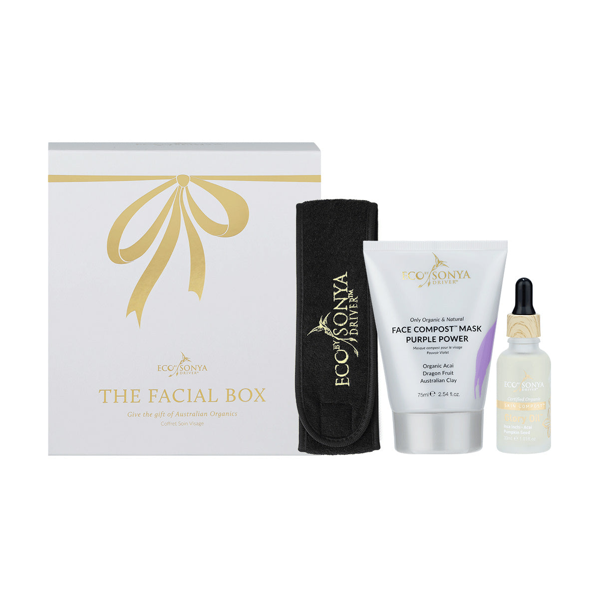 Eco Tan, Glory Oil, Christmas Gift Set, The Facial Box, Face Compost Mask, Organic, Australian, Natural, Gezichtsmasker, Natuurlijk,Detox, brighten, calm, smooth gezichtsmasker, gezicht, huidverzorging, purifying, hydrating, The Face Compost™ Purple Power Mask, Eco Tan The Face Compost™ Purple Power Mask, Eco Tan, Eco Tan x Nourished.