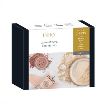 Inika, loose mineral foundation, naturally derived, cruelty free, vegan, skin, spf