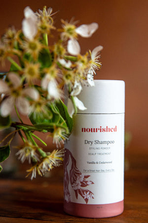 Nourished | Nourished X Romy | Luxurious Dry Shampoo + Styling Powder + Scalp Treatment | Hair + Scalp Treatment Oil | Hair Oil | Haarolie | Dry Shampoo | Romy Boomsma | Natuurlijke Haarverzorging | best hair day ever set