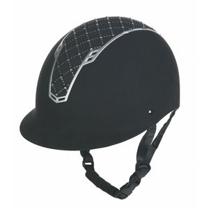 HKM Riding Helmet Linz Black & Silver [Special Order]
