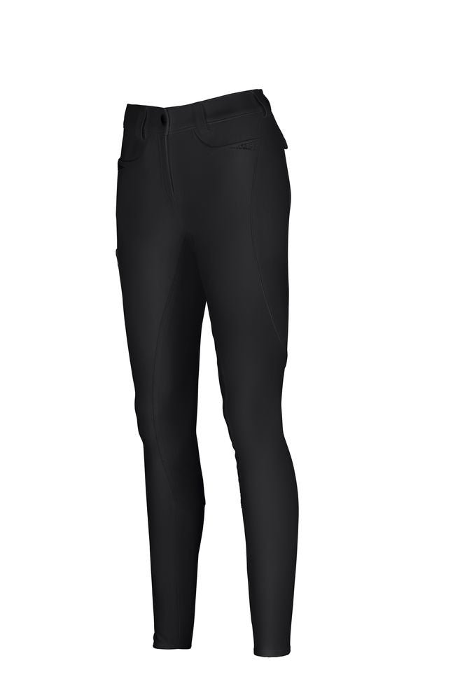 Pikeur Laure McCrown Suede Breeches Full Patches: Black