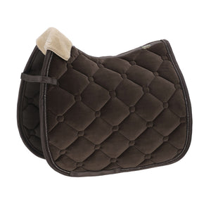 Eskadron Classic Sports Saddle Cloth VELVET FAUXFUR Brown