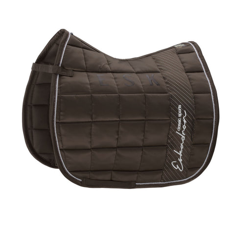Eskadron Classic Sports Saddle Cloth BIG SQUARE GLOSSY Brown