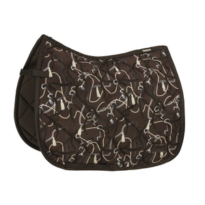 Eskadron Platinum Glossy Dessin Saddle Pad Havana Brown