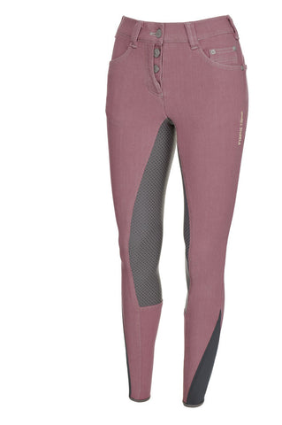 Pikeur Fayenne Grip Jeans Full Patches Foxglove Pink  [Size 38/10]