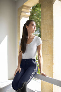 Pikeur Aura Knee Grip Softshell Breeches - Grey [Sizes 38, 40 & 42]