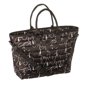 Eskadron Platinum Glossy Shopper Bag Havana Brown Dessin Print