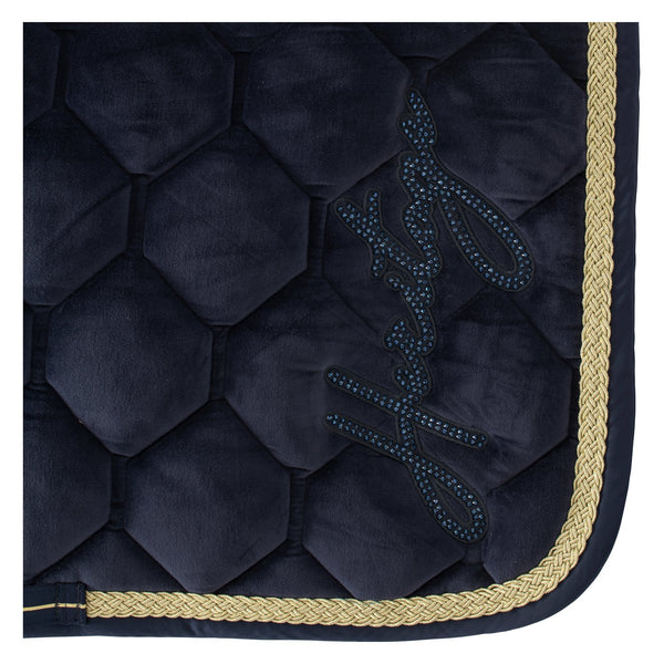 Eskadron Heritage Velvet Saddle Pad Oxford Navy