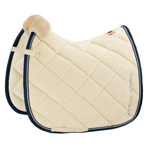 Eskadron Platinum Velvet Stamp Saddle Pad - Off White