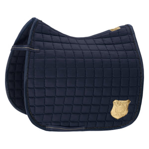 Eskadron Heritage Cotton Emblem Saddle Pad Oxford Navy [Pre-Order]