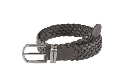 Pikeur Recycled Eco Leather Plaited Belt - Grey / Graphite