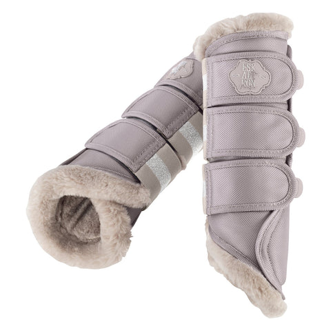 Eskadron Faux Fur Lined Tendon Boots Soft Grey