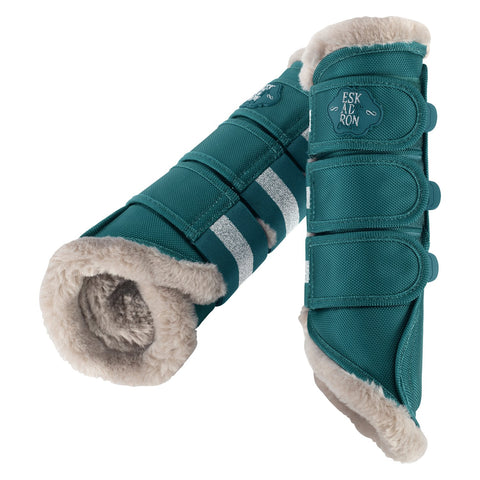Eskadron Faux Fur Lined Tendon Boots Teal Blue