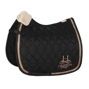 Eskadron Heritage Glossy Brand saddle Pad Black Rose Gold