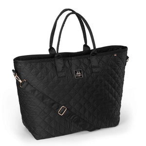 Eskadron Heritage Glossy Quilted Shopper Bag Black