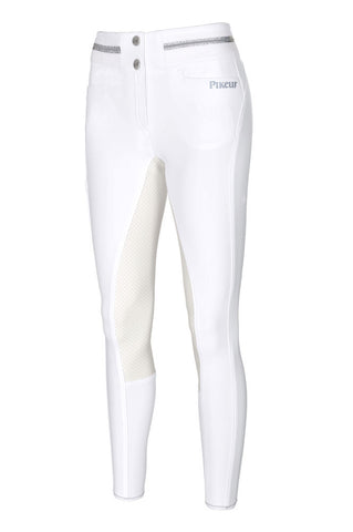 Pikeur Calanja McCrown Suede Seat High Waist Breeches White