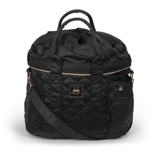 Eskadron Heritage Glossy Quilted Black & Rose Gold Grooming Bag Black