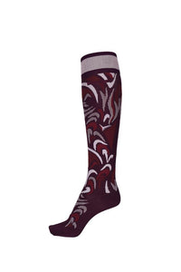 Pikeur Knee Sock All Over Pattern - Wine