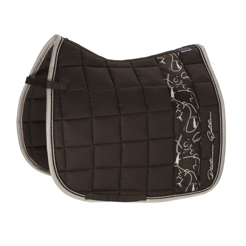 Eskadron Platinum Big Square Saddle Pad Cotton Havana Brown