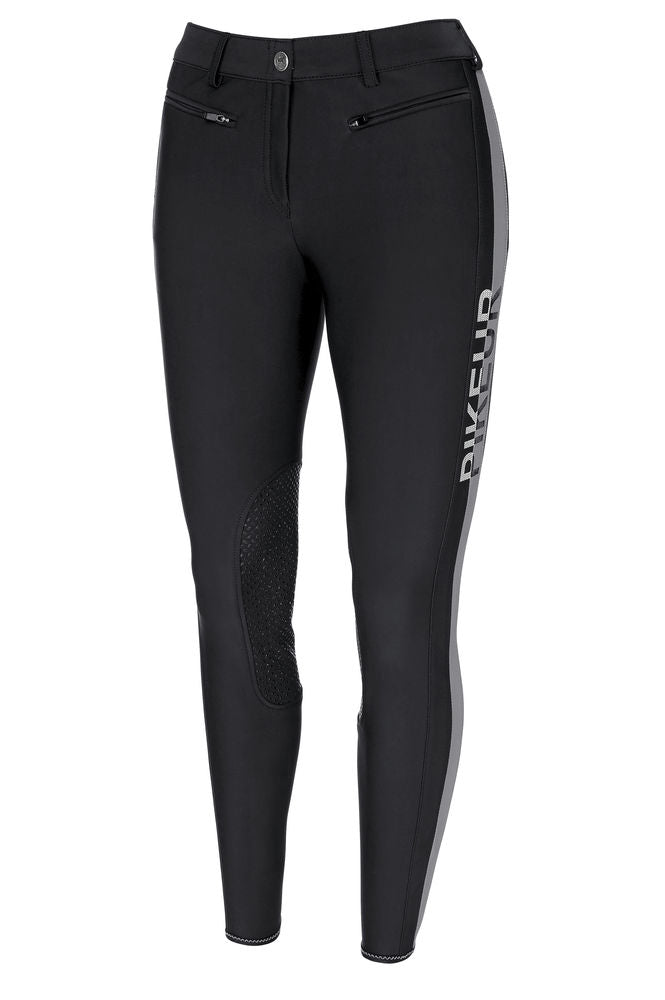 Pikeur Aura Knee Grip Softshell Breeches - Black [Size 36 & 42]