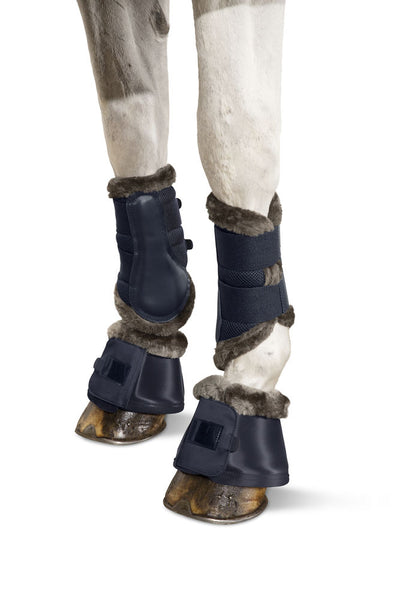 Eskadron Classic Sports Bell Boots SOFTSLATE FAUXFUR Navy Blue