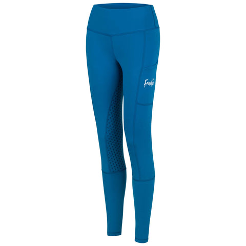 Frankie Cozy Grip High Waist Micro Fleece Legging [Winter] CERULEAN BLUE