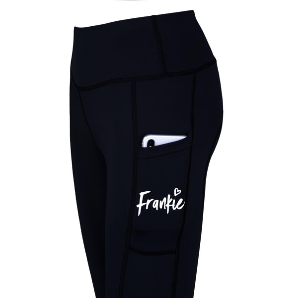 Frankie Cozy Grip High Waist Micro Fleece Legging [Winter] BLACK WINTER