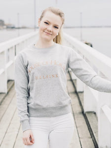 House of Horses Classic Sweatshirt Grey & Rose Gold