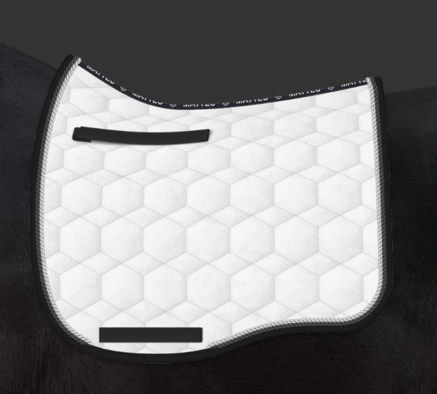Mattes White & Black Competition Velvet Pad