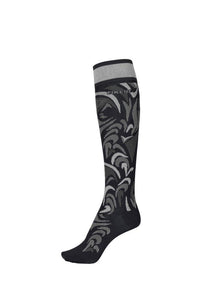Pikeur Knee Sock All Over Pattern - Black