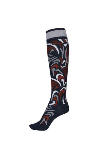 Pikeur Knee Sock All Over Pattern - Night Sky / Navy