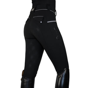 HorseGloss Bamboo Technical Stretch Breeches Black