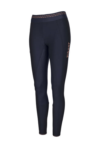 Pikeur Juli Grip Athleisure Legging Breeches Navy / Rose Gold