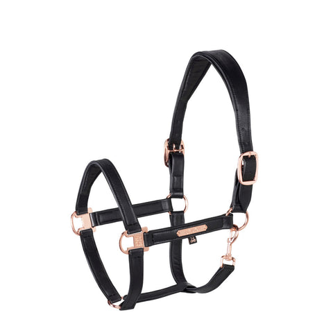 Eskadron Heritage Leather Halter Black & Rose Gold